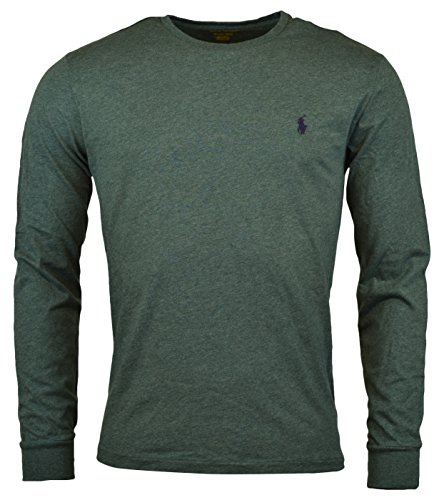Polo Ralph Lauren Mens Long Sleeve Crewneck Logo T-Shirt - L - Charter Green