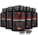 6 Bottles of BurnerTEK™ All Natural #1 Rated Fat Burner - 12 Fat Burning Ingredients, 540 Pills, 180 Day Supply - Lose Weight, More Energy & More Stamina (6)
