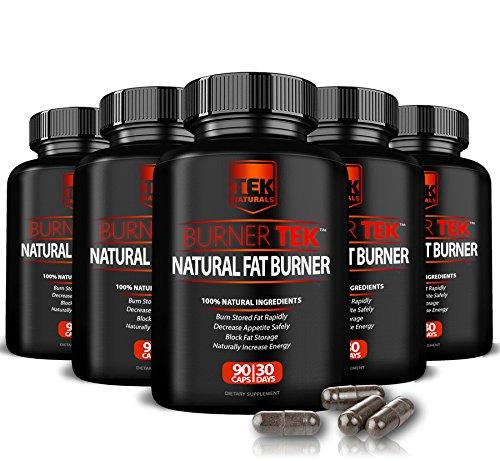 6 Bottles of BurnerTEK™ All Natural #1 Rated Fat Burner - 12 Fat Burning Ingredients, 540 Pills, 180 Day Supply - Lose Weight, More Energy & More Stamina (6) by TEK Naturals