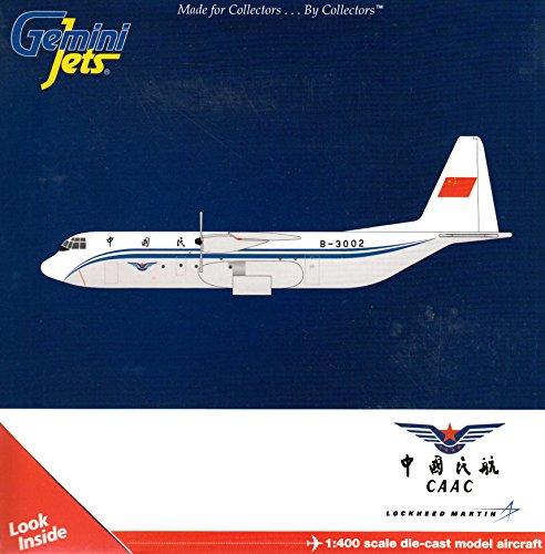 GEMGJ1418 1:400 Gemini Jets CAAC Lockheed L-100-30 Hercules Reg #B-3002 (pre-painted/pre-built)