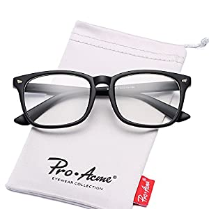 Pro Acme New Wayfarer Non-prescription Glasses Frame Clear Lens Eyeglasses (Matte Black)