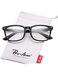 New Wayfarer Non-prescription Glasses Frame Clear Lens...
