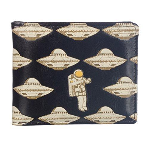 - Shag Wear Men's Bifold Wallet Astronaut Pattern