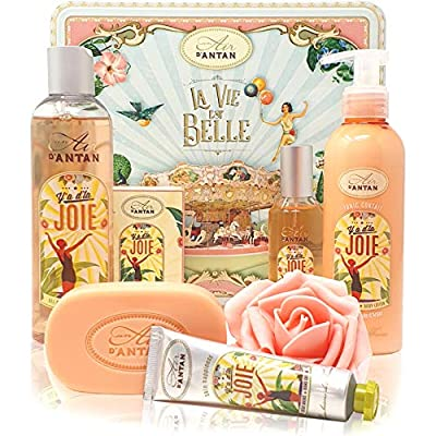 Un Air d'Antan – Beauty Box Set JOIE 5 Produkte: 1 Duschgel 250ml, 1 Handcreme 25ml, 1 Seife 100g, 1 Körperlotion 200ml…
