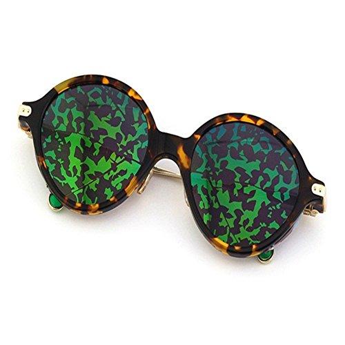 plato gafas de sol con de sol gafas de de elegantes 6 Shop estilo sol Película circular andante Verde femenino Gafas Concha de y Gafas Con únicas sol twqRnfaPx