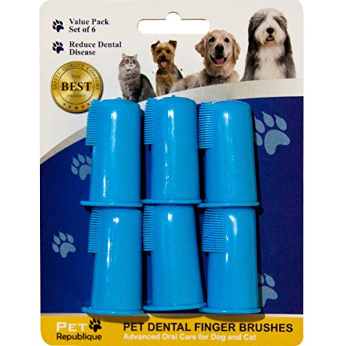 Pet-Republique-Cat-Dog-Finger-Toothbrush-Set-of-3-6-Dental-Hygiene-Brushes-for-Small-to-Large-Dogs-Cats-Most-Pets-Regular-Set-of-6