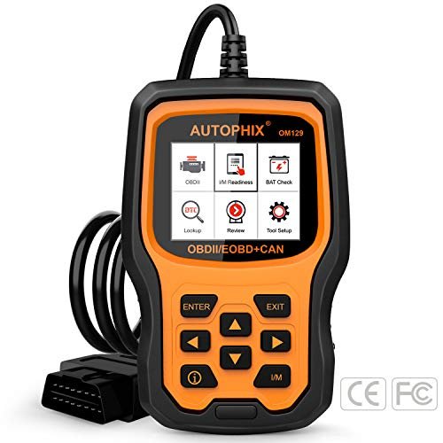 AUTOPHIX OM129 OBD2 Scanner Auto Code Reader Car Diagnostic Scan Tool with Graphing Battery -