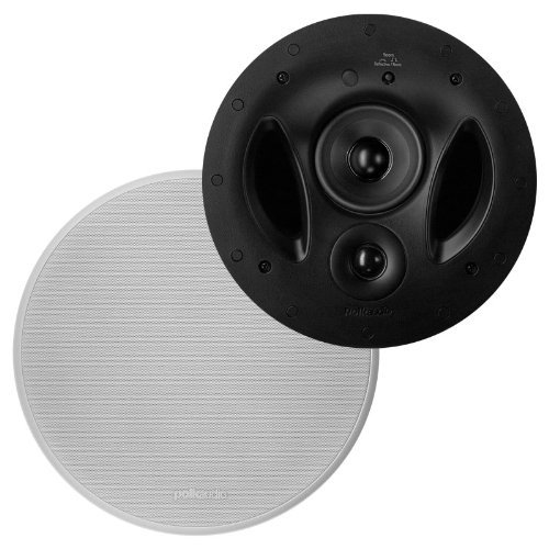 Polk Audio 90-RT In-Ceiling Speakers (Pair) Plus Polk Audio 265RT 3-Way In-Wall Speakers (Pair) & A Polk Audio 255C-LS Center Channel Speaker by Polk Audio