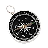 TAUWELL Pocket Compass Key Holder Direction Magnet Compass Magnetic Needle Compass Portable Pocket Compass Miniature for Camping, Hiking and Other Outdoor Activities