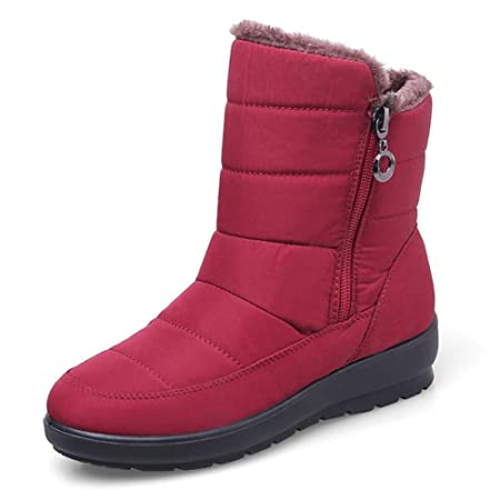 Amazon.com: Women Snow Boots Ankle Booties Non-Slip Waterproof Warm Tall Top Cotton Shoes Pregnant Women Boots Outdoor Casual Shoes EU Size 35-43: Sports & ...