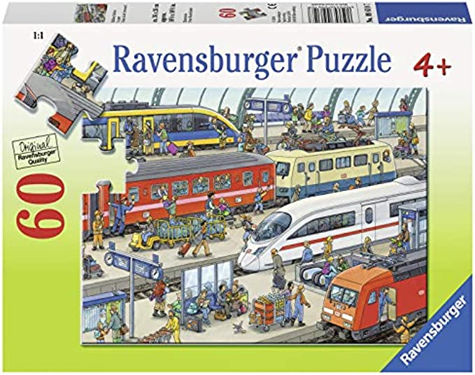 Ravensburger Railway Station 60 Piece Jigsaw Puzzle for Kids