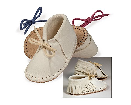 Baby Deerskin Moccasins - Make Your Own Easy-fit Baby Shoe Kit