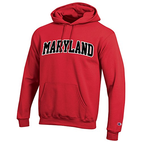 Champion NCAA Maryland Terrapins Men's Eco Powerblend Hooded Sweat Shirt, Small, (Maryland Terps Ncaa Hoody)