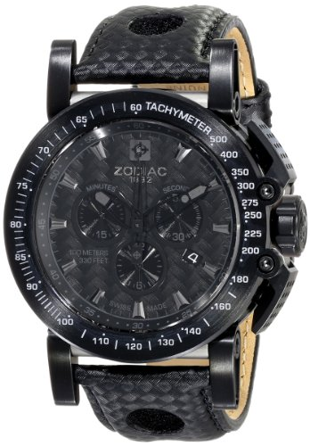 Zodiac-ZMX-Mens-ZO8567-Racer-Analog-DisplaySwiss-Quartz-Black-Watch