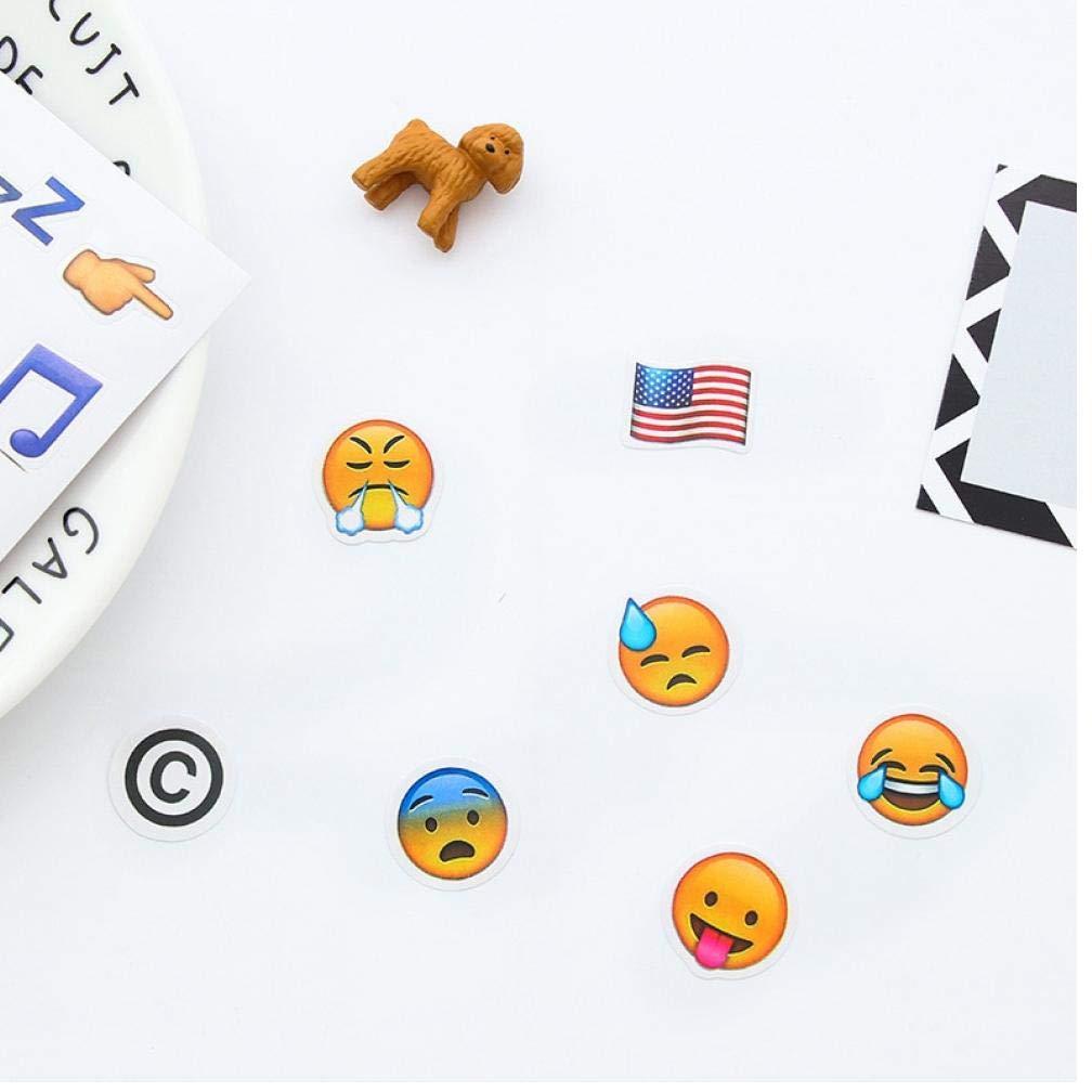 Zonster 4 Strati//Insieme 192 Emoji Sorriso Accessori per Il Viso Diario autoadesivi DIY di Kawaii Scrapbooking cancelleria Sticker cancelleria New School