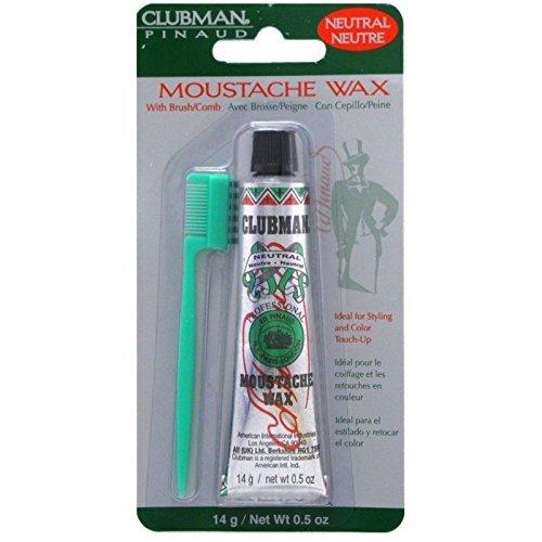 Clubman Moustache Wax Neutral 0.50 oz