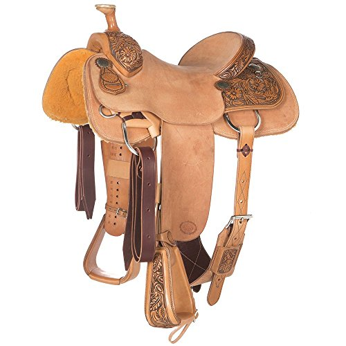 NRS Pro Series 1/2 Breed Wild Rose Team Roping Saddle 14.5