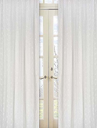 Sweet Jojo Designs 2-Piece White Eyelet Window Treatment -