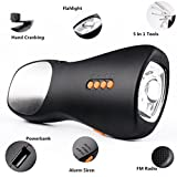 Emergency Radio Flashlight, Wanfei Hand Crank and USB Charging Flashlight with Cellphone Charger, FM Radio, 5 in 1 Tools, Alarm Siren for Outdoor Camping Tent Hurricane