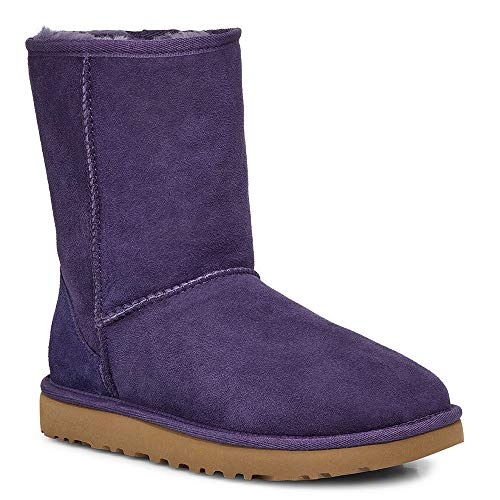 UGG Women's Classic Short II Fashion Boot, Nightshade, 8 M US (Purple Woman Ugg Boots)