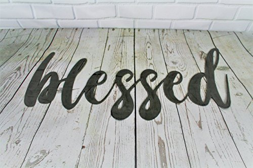 Raw Steel Unpainted Word Art - blessed small size