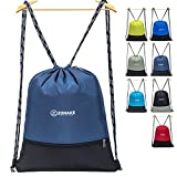ZOMAKE Drawstring Backpack Large Water Repellent Gymbag Sackpack Tote Cinch Bag for Ourdoor Sport Yoga(Jewelry Blue)