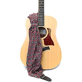 guitar strap theda scarf strap by capturing couture new exclusive patent. Black Bedroom Furniture Sets. Home Design Ideas