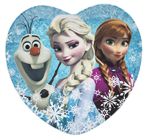 Zak! Designs Heart Shaped Plate with Elsa, Anna and Olaf from Frozen, Break-resistant and BPA-free Melamine ()