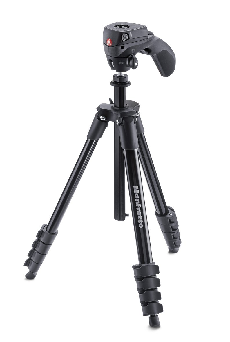 Manfrotto MKCOMPACTACN-BK Compact Action Tripod (Black) by Manfrotto