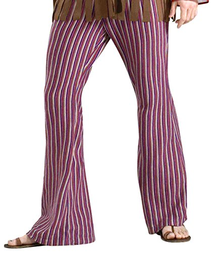 Forum Novelties Men's Far Out Bell Bottoms Hippie Costume Pants, Multi, Standard