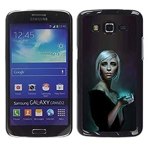 All Phone Most Case / Oferta Especial Duro Teléfono Inteligente PC Cáscara Funda Cubierta de proteccion Caso / Hard Case Samsung Galaxy Grand 2 // Blue Glow Blonde