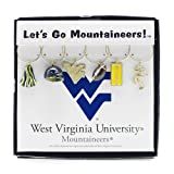 Wine Things West Virginia University Painted Glassware Charms
