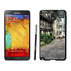 NEW Unique Custom Designed Samsung Galaxy Note 3 N900A N900V N900P N900T Phone Case With Old City Street Architecture_Black Phone Case