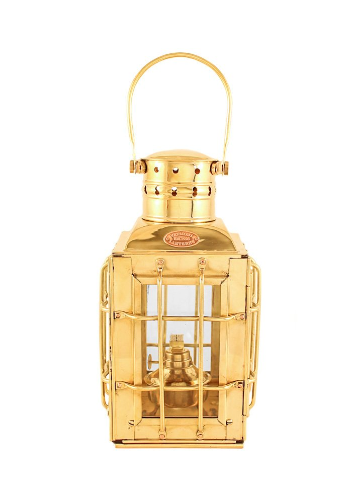 Vermont Lanterns Brass Chiefs Oil Lamp - Nautical Lantern (10'', Brass) by Vermont Lanterns