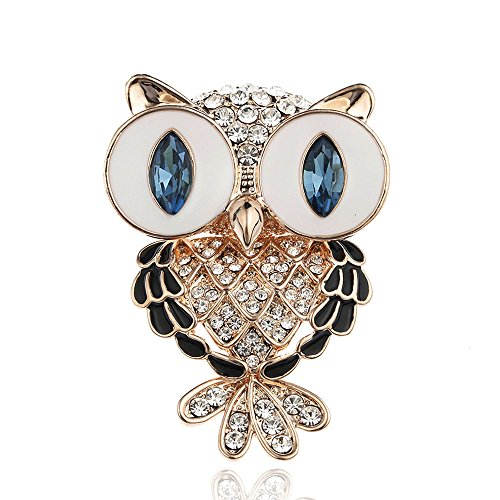 Pin Up Costume Diy (Crystal Lucky Owl Brooch Vintage Antique Bouquet Animal Hijab Pin Up Designer Brooches For Women Scarf Clip)
