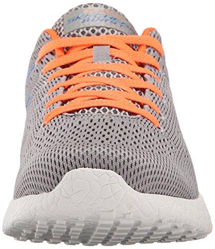 Skechers Burst-Second Wind, Zapatillas para Hombre gris y naranja