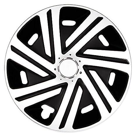 (tamaño a elegir) Tapacubos/Cyrkon Tapacubos negro/blanco apto para casi todos