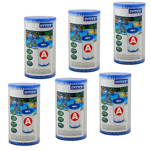 INTEX - Juego de 6 Cartuchos de Filtro (Tipo de filtracion: