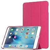 iPad Mini 4 Case, Moko Ultra Slim Lightweight Smart-shell Stand Cover Case With Auto Wake / Sleep for Apple iPad Mini 4 (2015 edition) 7.9 inch iOS Tablet, FM MAGENTA