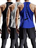 Kyпить Neleus Men's 3 Pack Mesh Workout Muscle Tank Top,5007,Black,Grey,Blue,US L,EU XL на Amazon.com