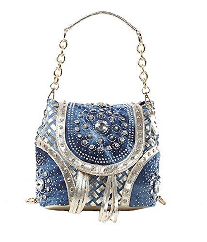 Coquelicot et Coccinelle, Borsa a spalla donna blu Blau