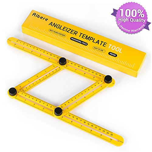Aitere Angle Ruler/Angle Finder/Angle-izer Template Tool Finder Ruler-General Measuring All Angles and Forms - Angleizer Instrument for Builders Craftsmen Tilers Handymen Carpenter Roofers DIY