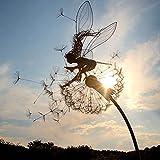 Fairies and Dandelions Garden Metal