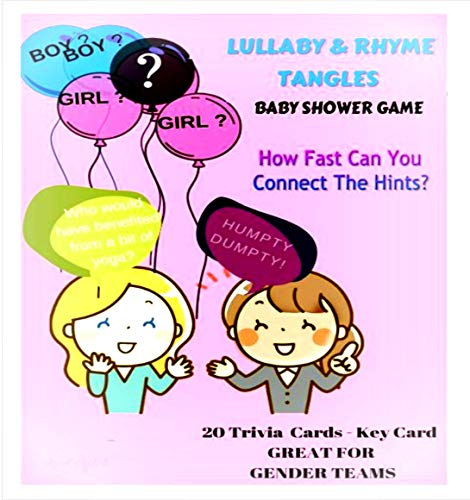 April's Got It Baby Shower Games - Set 20 Sheets 2 Sides Nursery Game Lullaby Rhyme Tangles| Fun Baby Shower Game, Exciting Guessing Group Play |Gender Reveal, Prizes For Winners -Guests