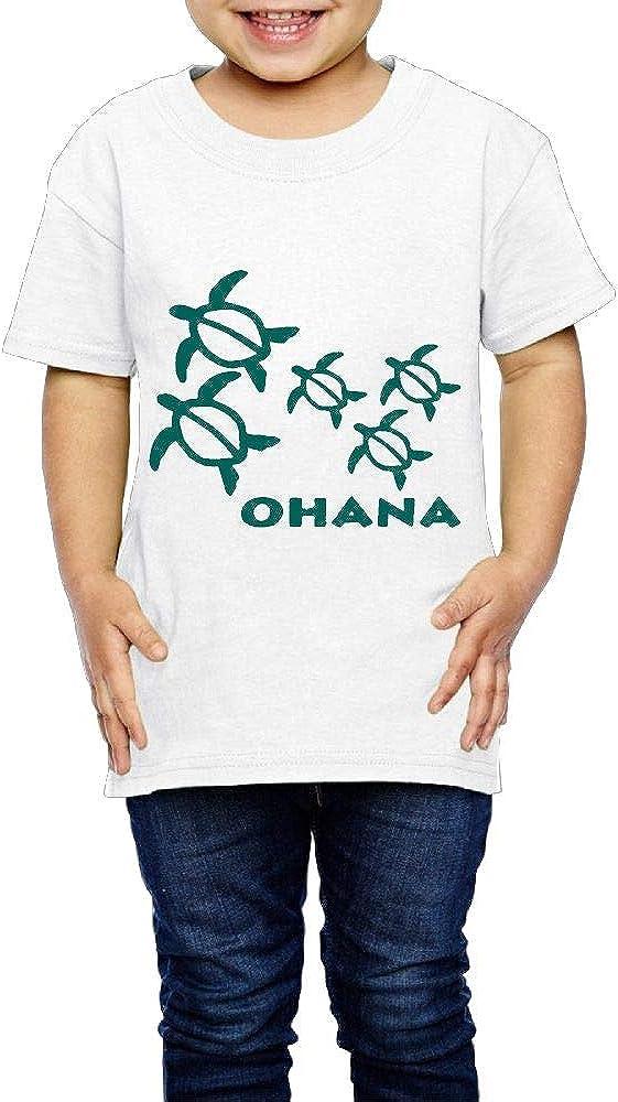 XYMYFC-E Ohana Honu Hawaiian Sea Turtle 2-6 Years Old Kids Short-Sleeved T-Shirt