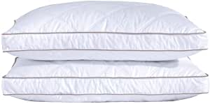 Purredown - Juego de 2 Almohadas de Plumas de Ganso Natural para Dormir