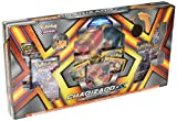 Charizard-GX spreads its mighty wings. Charizard-GX commands the battlefield with fiery attacks. With its swift wings and flaming breath, this powerful Pokémon can unleash a Crimson Storm from above. Get this Premium Collection today—because ...