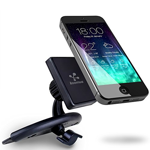Koomus Magnetos Universal CD Slot Magnetic Cradle-less Smartphone Car Mount Holder with Quick-snap technology