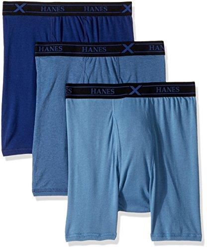 Hanes Ultimate Men's 3-Pack X-Temp Comfort Boxer Briefs, Assorted, XX-Large