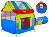 Big Children Play Tent with Tunnel, Indoor/Outdoor with Stakes
